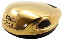 Карманная оснастка для круглой печати Colop Mouse R40 D=40мм, (ЗОЛОТО) с подушкой.
