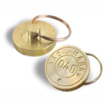 Печать металлическая под пластилин с кольцом от ключей