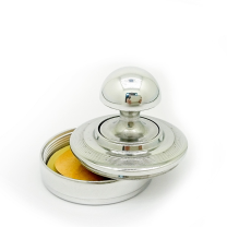 К «Вега-кнопка» d42 мм. с подушкой. Металлическая оснастка для круглой печати.